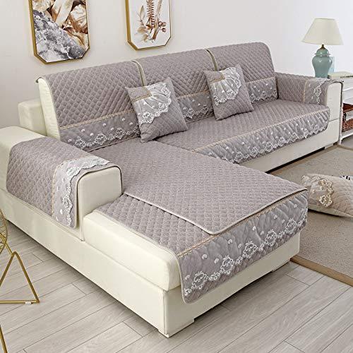 BASA Tuin meubelhoes, bank kussen, bank cover, huishoudelijke artikelen, eenvoudige stofdichte bescherming meubels 90*120cm Grijs