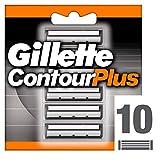 Gillette ContourPlus Rasierklingen mit schwenkbarer Doppelklingen für eine angenehmere Rasur, 10 Ersatzklingen