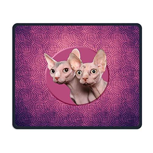 Haarloze kat behang comfortabele rechthoek rubberen basis muismat Gaming muismat