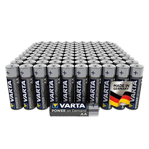 VARTA Power on Demand AA Mignon Batterien (100er Pack Vorratspack in umweltschonender Verpackung - smart, flexibel und leistungsstark - z.B. für Computerzubehör, Smart Home Geräten oder Taschenlampen)