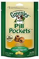 グリニーズ ピルポケット チキン味 犬用 Greenies Pill Pockets for Dogs カプセル用 7.9oz (224g) [並行輸入品]