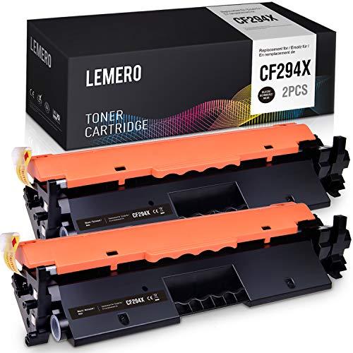 LEMERO Tóner compatible con HP CF294X para HP Laserjet Pro M118dw MFP M148dw M148fdw M149fdw Impresora 2 Negro