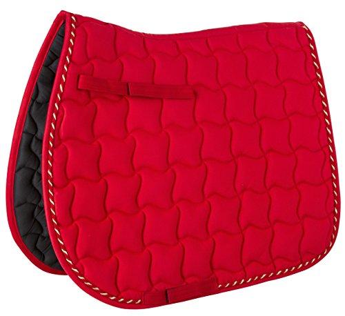 Kerbl Laguna Tapis de Selle Polyvalent pour Pur-Sang Chaleureux Mixte Adulte, Rouge (warmred), Taille Unique