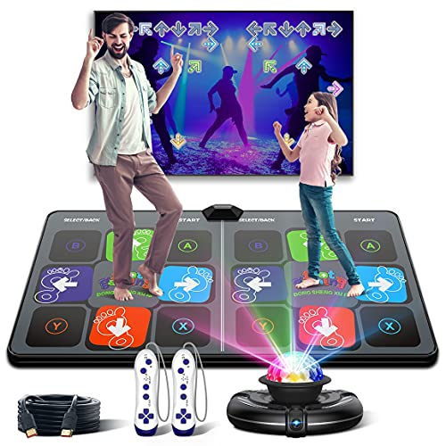 Dance Mat for Kids and Adults,Musical electronic dance mat, Double User Yoga dance floor mat with...