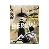 Nostalgic-Art 14255 Berlin CityStyle - Berlin Street Art, Magnet 8x6 cm