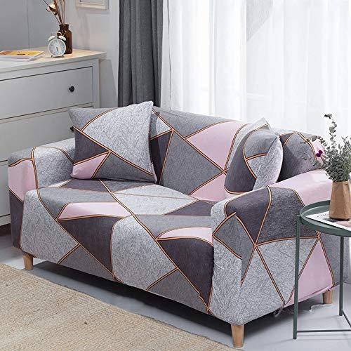 WXQY Funda de sofá Funda de sofá elástica Ajustada, sección Transversal elástica, Funda de sofá con Todo Incluido, decoración de la Sala de Estar, Funda de sofá A10, 2 plazas