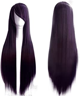 "Remeehi 80Cm 30"" Long Straight Synthetic Wigs Lolita Cosplay Wigs For Women 8# Deep Purple"
