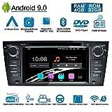 Ohok 7 Zoll Bildschirm 1 Din Autoradio Android 9.0 Pie Octa Core 4G+32G Radio mit Navi Moniceiver DVD GPS Navigation Unterstützt Bluetooth DAB+ für BMW 3 Series/E90 E91 E92 E93 2006-2011