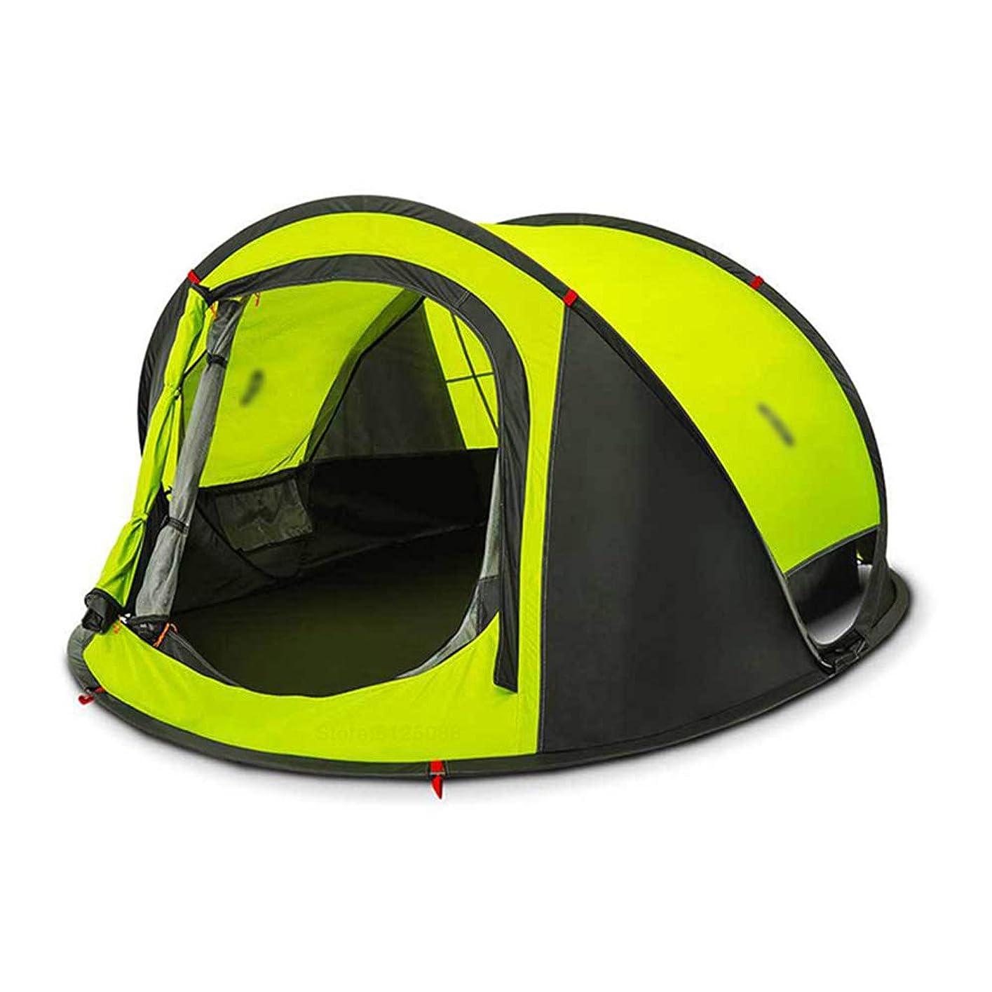貯水池コック敏感な屋外のキャンプテント、10トンまでの自動ポップ、ビーチテント、防水透湿10トン、ハイキングのために3?4人軽量ポータブルバックパッキングテント