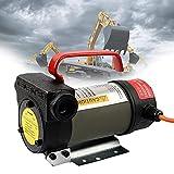 EnweMahi Bomba Aceite Eléctrica 24V,12V Bomba Dransferencia Diésel,60L/Min, Bomba Sifón Combustible, Bomba Aceite, Bomba Succión para Automóviles, Motocicletas, Camiones,24V