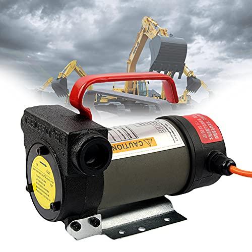 EnweMahi Bomba Aceite Eléctrica 24V,12V Bomba Dransferencia Diésel,60L/Min, Bomba Sifón Combustible, Bomba Aceite, Bomba Succión para Automóviles, Motocicletas, Camiones,12V