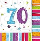 amscan Tovagliolo 33X33 Cm Buon Compleanno Radiant 70,...