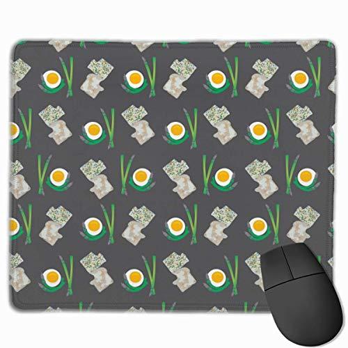 Brot und Eier Rechteckige rutschfeste Gaming-Mauspad Tastatur Tastatur Gummi-Mauspad für Heim- und Büro-Laptops