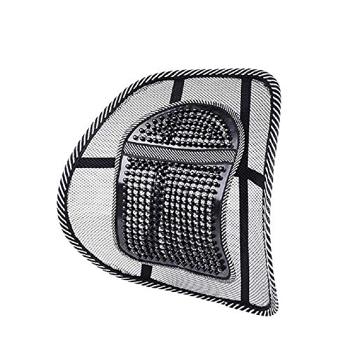 Kaptin Air Flow Mesh Lumbar Support Chair Mesh Lumbar Support Back Seat Cushion with Elastic Strap for Car Home Office (1)