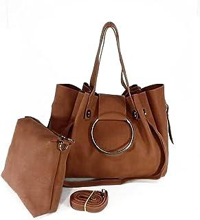 حقيبة يد جلدية - مع شنطة داخلية (هافان)