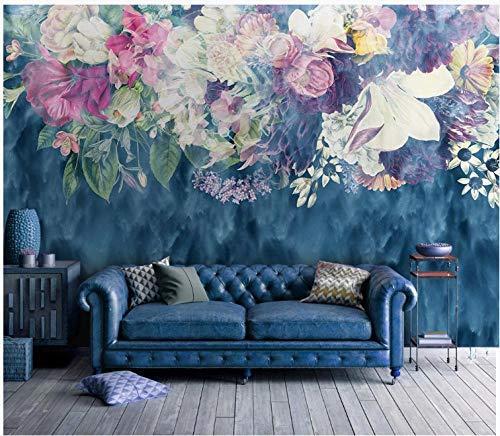 3D Wallpaper Canvas Art Print Wall Mural Poster Vintage Abstract Rose Flower Photo Wallpapers Murals Picture Design Modern 430X300Cm