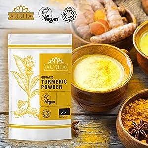 AUSHA Organic Turmeric Powder (CURCUMIN)- 200g (Premium Quality)