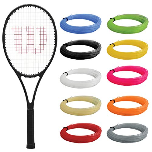 Wilson Pro Staff RF97 v13 Tennis Racquet (4 3/8' Grip) Strung with Red Synthetic Gut Racket String - Best Racquet for Power and Control