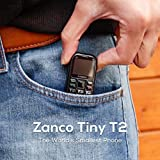 zanco Tiny t2 World's Smallest 3G WCDMA Mobile Phone,Smallest Mini Phone Small Phone Travelling Phone,Pocket Cell Phone