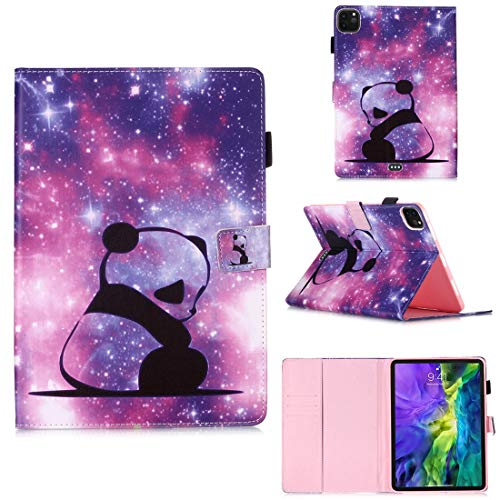 XFDSFDL Protective Cover for Apple iPad Pro 2rd Gen 2018-2020 (11 Inch) PU Leather Flip Case Panda Baby Pattern with Built Stand Card Slot Wallet Auto Wake/Sleep Device Shell Holster, 10