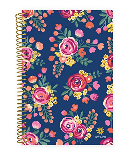 "bloom daily planners 2019-2020 Academic Year Day Planner Calendar (August 2019 Through July 2020) - 6"" x 8.25"" - Weekly/Monthly Yearly Agenda Organizer with Tabs - Vintage Floral"