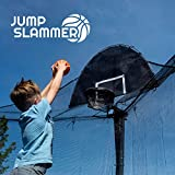 Jump Slammer Trampoline Basketball Hoop | Easy Install | Foam Ball Included | [Lifetime Parts Warranty]