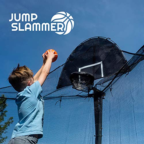 Jump Slammer Trampoline Basketball Hoop | Easy Install | Foam Ball Included | [Lifetime Parts...