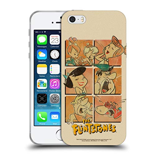 Head Case Designs Ufficiale The Flintstones La Gang Vintage Cover in Morbido Gel Compatibile con Apple iPhone 5 / iPhone 5s / iPhone SE 2016