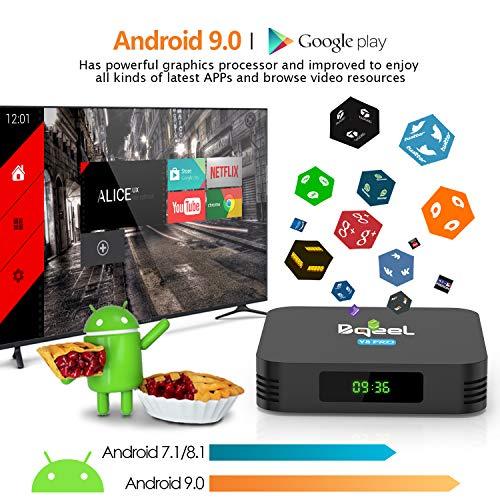 Bqeel Android TV Box Y8 PRO【4GB+32GB】 Smart TV Box mit Tastatur / Amlogic S905X3 64-bit Quad Core/ unterstützt 4K/H.265/ WiFi 2.4G/5G/ USB3.0 Android 9.0 TV Box