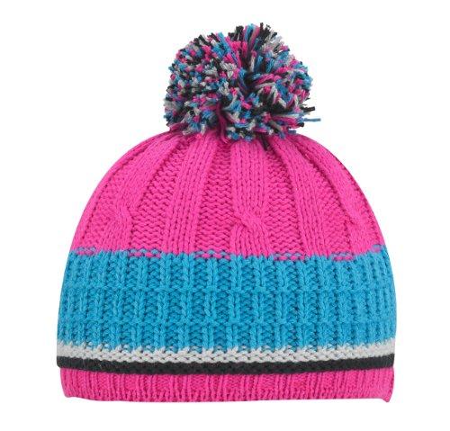 Döll Mädchen Mütze, gestreift 730420642, Gr. 55, Pink (2082)