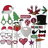 Erduo 28 Piezas Bigote de Papel Foto Props cornamentas Sombreros de Navidad al por Mayor