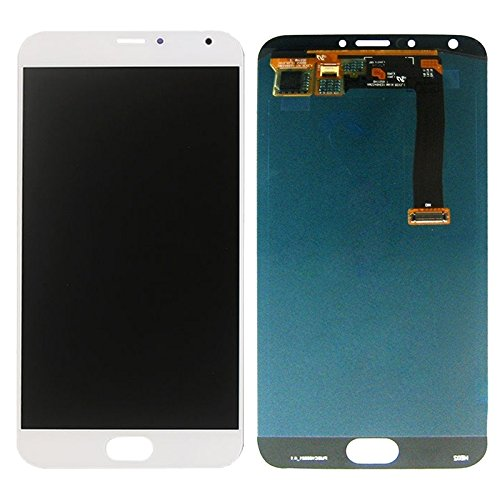 No Logo Piezas de Recambio Pantalla LCD + ensamblaje de digitalizador de Pantalla táctil Compatible con Meizu MX5 para los teléfonos móviles (Size : For meizu mx5 White)