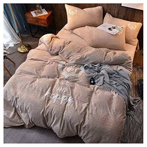 MUJIN Dubbel fluwelen beddengoed voor de winter, eenvoudig te gebruiken als beddengoed, dubbelzijdig, warm, vierdelig