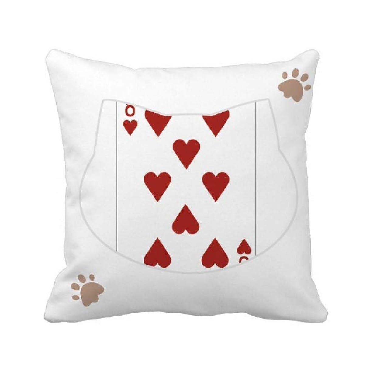 確執毎年節約カードパターン8プレー心 枕カバーを放り投げる猫広場 50cm x 50cm