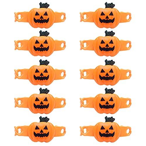 GeKLok 10pcs Moda Halloween Niños Pulsera Única Fiesta Favor Tricky LED Luminoso Juguete Celebración de Cumpleaños (tamaño: Tipo B)