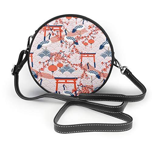 MZZhuBao Handtaschen für Frauen, ich denke, ich werde Japaner! PU-Leder Umhängetaschen, Tote Satchel Messenger Bags