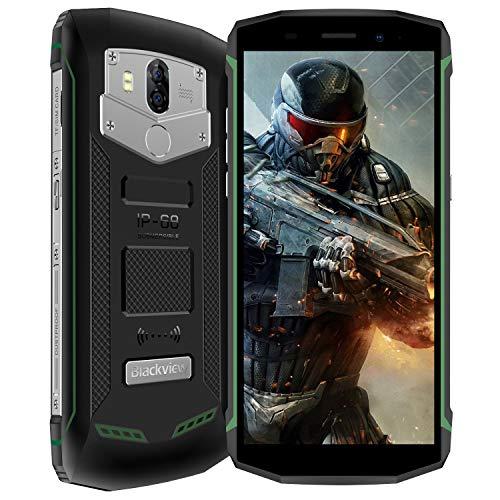 Blackview BV5800 Movil Todoterreno Smartphone 4G Impermeable IP68 a Prueba de Golpes Android 8.1 Telefonos moviles Dual SIM Antigolpes 5580mAh Batería 2GB RAM 16G ROM Pantalla 5.5 Camara 8MP+13MP