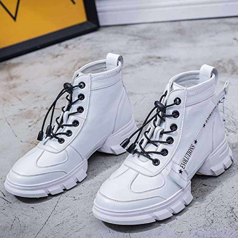 HOESCZS HOESCZS Damenschuhe Herbst Und Winter Lederstiefel Weiße Schuhe Martin Stiefel Frauen  Marke kaufen