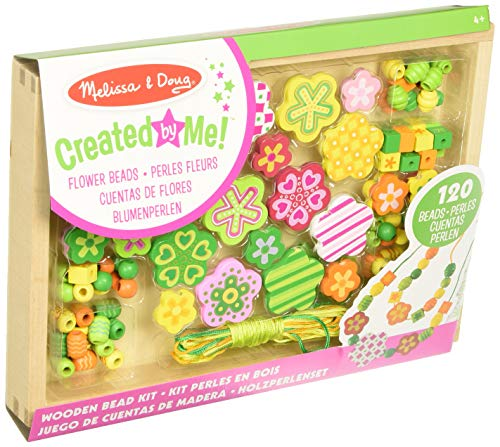 Melissa & Doug Flower Power Bead Set | Arts & Crafts | DIY | 4+ | Gift for Boy or Girl