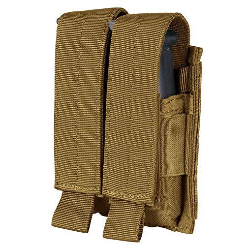Condor MA23-498 Double Pistol Mag Pouch, Coyote Brown