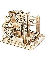 Robotime コースター 水車 3D立体パズル ギア 手回し レーザー 木製 クラフト キット プレゼント
