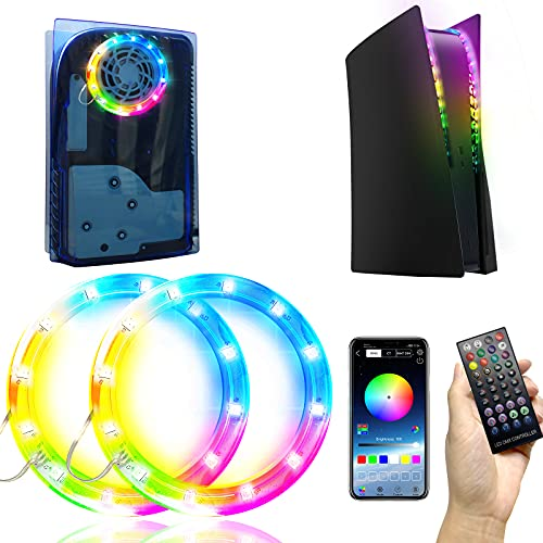 LED Light Strip for PS5, 7 Colors 400 Effects Decoration Music Sync RGB Light Strips Designed for...