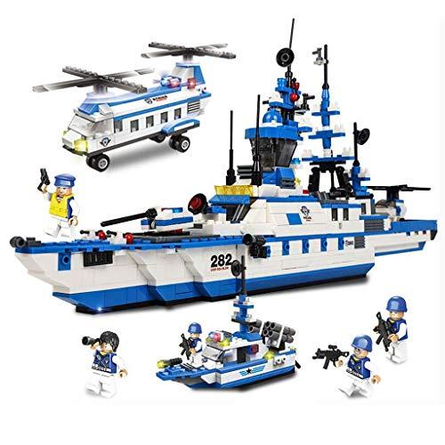 City Coast Guard Patrouille, Kinderspeelgoed bouwstenen, Stedelijke bouwstenen assembleren speelgoed, Patrol oorlogsschip vervoerder, Tank Cars, Politie Auto's, Anti-vliegtuigen Artillerie, Transport Helikopters, Patrol Schepen