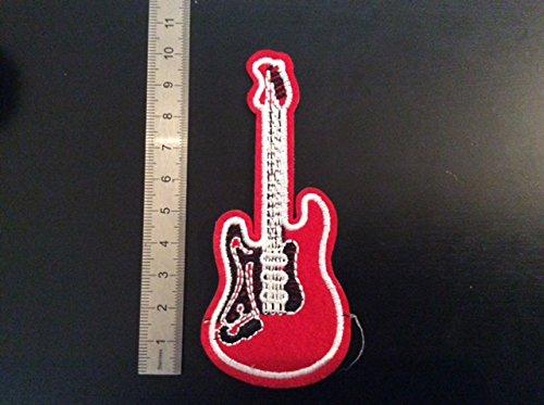 Opstrijkplaatjes Aufnaher Toppa? Rode elektrische gitaar