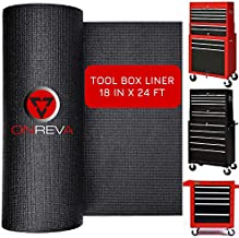 ONREVA Tool Box Drawer Liners - Rolling Tool Chest Liner, Professional ToolBox Organizer Liner Roll, Heavy Duty Non-Slip Shelf Mat Perfect for Protecting Your Tools, 18 inch x 24 ft Tool Box Liner