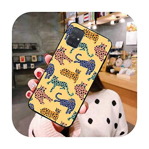 Phonecase - Carcasa para Samsung Galaxy A21S, A01, A11, A31, A81, A10, A20E, A30, A40, A50, A70, A80, A71, A51-A6, para Galaxy A10, diseño de leopardo