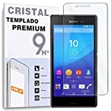 REY Protector de Pantalla para Sony Xperia M4 Aqua Cristal Vidrio Templado Premium