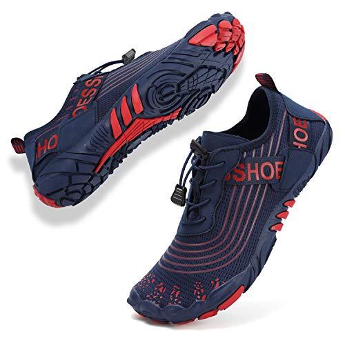 Topwolve Zapatos de agua para hombre y mujer, zapatos descalzos, trail, de secado rápido, zapatos de natación, zapatos para deportes acuáticos, para la playa, para exteriores, color, talla 41 EU