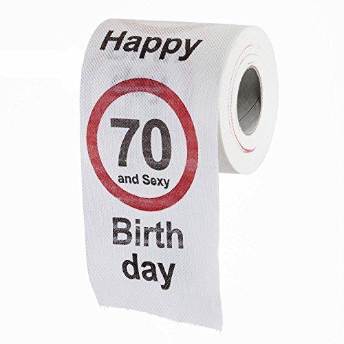 Goods & Gadgets Lustiges Fun Klopapier zum 70. Geburtstag Toilettenpapier Geschenkartikel Geburtstags-Dekoration 70 und Sexy!