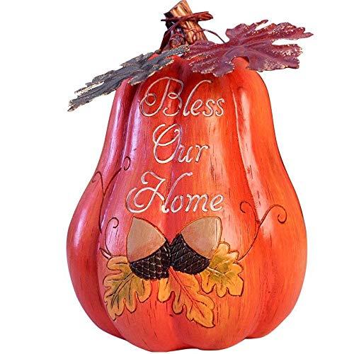DeepBlue Decorativas Manualidades de Resina Calabaza Figuras de jardín Adornos decoración del hogar Halloween decoración
